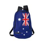 Australijczyka chorągwiany plecak odizolowywający na bielu Fotografia Royalty Free