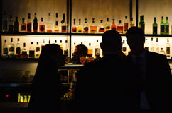 Australijscy ludzie w barze Fotografia Royalty Free