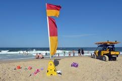 Australijscy ratownicy w złota wybrzeżu Queensland Australia Obraz Royalty Free