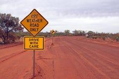 australijska droga Obrazy Royalty Free