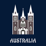 Australijska katedralna kościelna płaska ikona Fotografia Royalty Free