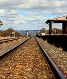 Australijska kraj linia kolejowa, stacja i Obraz Stock