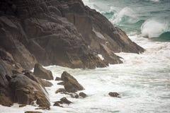 Australijska linia brzegowa przy 'kapelusz głową' zdjęcia stock