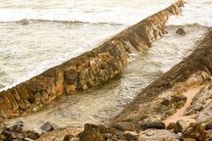 Australijska linia brzegowa przy 'półksiężyc głową' zdjęcia stock