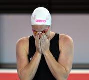 Australijska olympian i światowa mistrz pływaczka Emily Seebohm Obraz Stock
