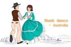 Australijska para wykonuje Bush tana Australia Zdjęcia Royalty Free