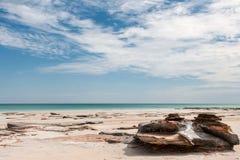 Australijska uniqe linia brzegowa z plażą zdjęcia royalty free