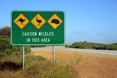 Australijski Drogowy znak Zdjęcia Stock