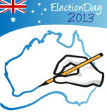 Australijski dzień wyborów Zdjęcie Royalty Free
