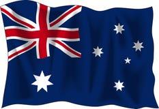 australijski flagę Zdjęcie Stock