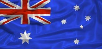 australijski flagę Obrazy Royalty Free