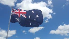 australijski flagę Fotografia Stock