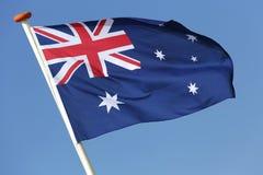 australijski flagę Zdjęcia Stock