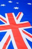 australijski flagę Zdjęcia Royalty Free