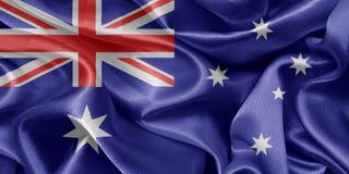 australijski flagę Fotografia Royalty Free