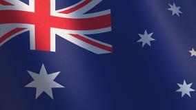 australijski flagę Falowanie australijczyka flaga 3d ilustracja Fotografia Stock