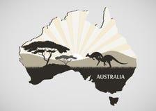 australijski kontynent ilustracji