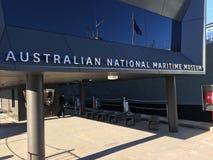 Australijski Krajowego Morskiego muzeum wejście Zdjęcie Stock