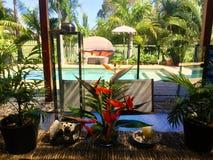 Australijski podwórko, patio dla długich gorących lat/ Fotografia Stock
