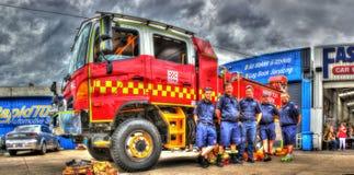 Australijski samochód strażacki i palacze Obraz Stock
