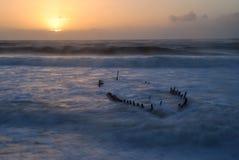 Australijski shipwreck przy wschodem słońca Fotografia Royalty Free