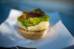 Australijski tradycyjny mięsny kulebiak z sosem Zdjęcie Stock