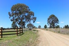 australijski wiejskiego drogowy zdjęcie stock