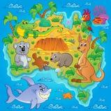Australisch beeld 1 van het kaartthema Royalty-vrije Stock Fotografie
