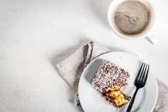Australisch dessert Lamington Royalty-vrije Stock Foto's