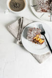 Australisch dessert Lamington Stock Foto's