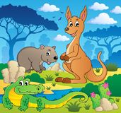 Australisch dierenthema 1 Stock Foto's