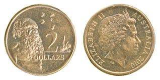 2 Australisch dollarmuntstuk Stock Fotografie