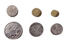 Australisch dollarmuntstuk Stock Afbeelding