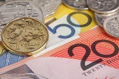 Australisch geld. Stock Foto