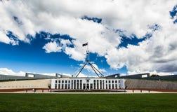 Australisch het nationale parlementshuis in Canberra stock fotografie