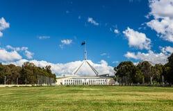 Australisch het nationale parlementshuis in Canberra Stock Afbeelding