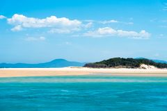 Australisch kustzandstrand bij Nambucca-Hoofden, Australië royalty-vrije stock foto's