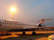 Australisch Luchtroutesvliegtuig Royalty-vrije Stock Foto's