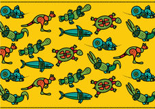 Australisch patroon voor kinderen royalty-vrije illustratie