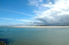 Australisch Strand - Nambucca royalty-vrije stock afbeelding