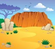 Australisch themalandschap 1 Stock Foto's