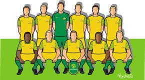 Australisch voetbalteam 2018 Stock Foto