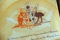 Australisch Wapenschild stock foto's