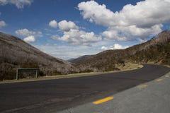 Australische alpine Straße Lizenzfreies Stockbild