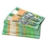 Australische Banknoten der Währungs-$100 Stockfotos