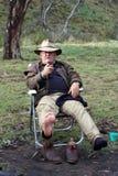 Australische Bosjesman Stock Fotografie