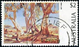 Australische Briefmarke Lizenzfreies Stockbild