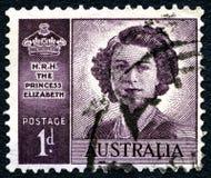 Australische Briefmarke der Königin-Elizabeth II Stockbild