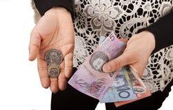 Australische dollar Royalty-vrije Stock Afbeeldingen