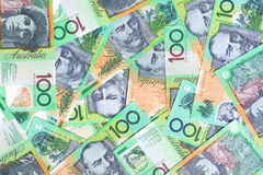 Australische Dollar Honderd Royalty-vrije Stock Foto